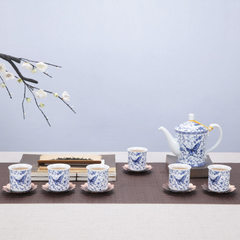 Qinghua beauty pot ceramic ware tea ware exquisite special price to create kung fu tea set gift manu Incense dances