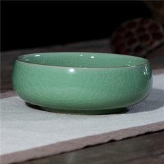龙泉青瓷茶洗 青瓷烟灰缸果盘花盘收纳盘陶瓷大香炉薰炉汤碗面碗 弟窑粉青