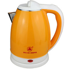 Red triangle 1.8 double - layer anti - ironing electric kettle stainless steel plastic electric kett Red triangle iron 2L