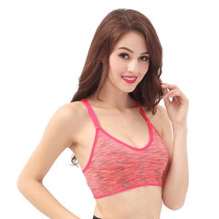 Sports bra shock-proof, single-speed, dry-dyed, non-steel hoop yoga underwear training, running and  red s.