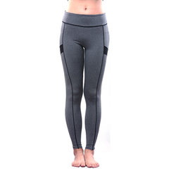 The new running yoga pants for the fall of 2016 are slim pants, sport pants and leggings Gray and black s.