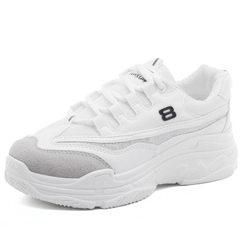 Korean department 100 take recreational running shoe former wind student Korean version vogue thick  white 35