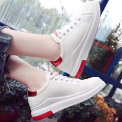 New style of spring 2018 Korean version of baida street photography little white shoes women basic s red 35