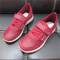 2018 new Beijing cloth shoes four seasons old people`s walking shoes breathable anti-skid men`s and  red 36