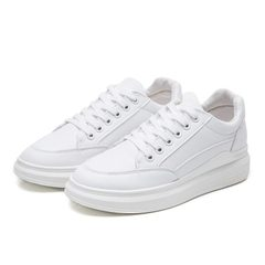 Spring and autumn 2018 new white shoes with thick bottom and white shoes board shoes of the female s white 35