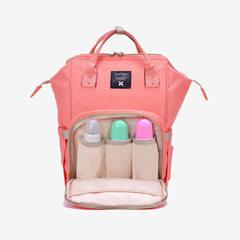 定制多功能大容量妈咪包双肩背包妈妈包时尚外出手提袋母婴包现货 红色
