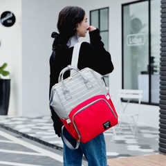 Striped double-shouldered mommy bag with multi-functional bags stylish mom bao bao bao goes out with Crash ash