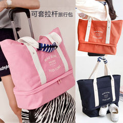 Wholesale new canvas travel bag single shoulder backpack women large capacity rod single shoulder ba orange