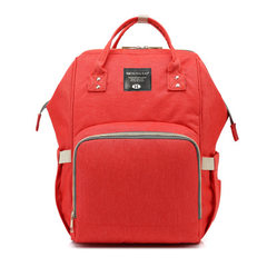 Large capacity, multi-functional mother bag, Oxford cloth mother and baby backpack, double-shoulder  red