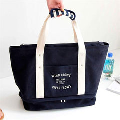 Wholesale new canvas large capacity single shoulder handbag mommy bag travel pull rod to receive bag blue
