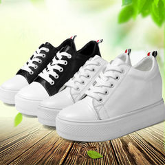 Women`s shoes in the spring 2017 style increased women`s shoes genuine leather small white shoes loo white 34