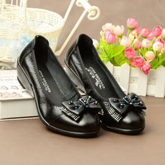2018 spring and autumn new style women`s shoes leisure women`s single shoes genuine leather women`s  3051 black 35