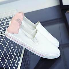 The new style of spring 2018 women`s casual sneaker with slouching shoes and flat flat shoes red EUR35