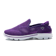 New style casual women`s shoes doudou shoes women light foot cover single shoe flat flat round head  purple 35