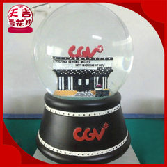 Manufacturer produces acrylic creative music water ball dongguan plastic water ball music box 80 * 65 mm