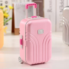 Creative student birthday gift box box luggage music box girls password box set out a couple gift 5 - A pink 150 * 105 * 70 mm