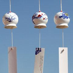 青歌原创手工陶瓷风铃 和风挂饰汽车挂件家居装饰品风铃生日礼物 梅-开口