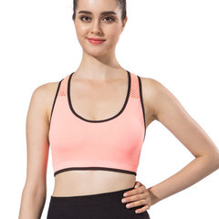 Easy to disassemble and clean sports bra without steel ring in stock orange S/m