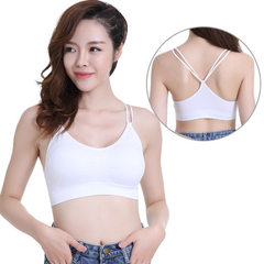Spring and summer new style without steel ring condole belt bra quick dry movement small condole bel white All code