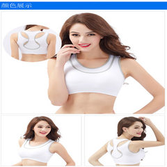 Sports bra fake two shockproof, steel-free running vest double layer underwear breathable yuan shans white S/m
