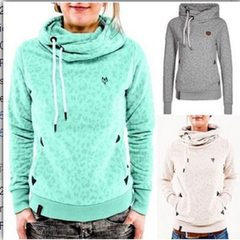 S-5xl wish hot style autumn and winter European and American new loose long-sleeved hat digital prin gray s.