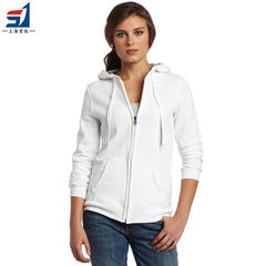 Spring women`s hooded cardigan, white cotton cardigan, custom-made Shanghai manufacturer`s logo prin white XXL