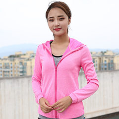 A replacement autumn winter outdoor sports long sleeve bodysuit fitness running yoga suit quick dry  pink s.