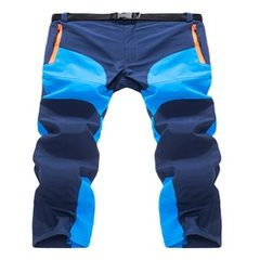 Men with violent style outdoor quick dry pants patchwork quick dry pants running cycling fishing pan Lake blue + navy blue s.