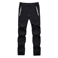 Spring and summer new thin stretch quick dry trousers for men`s leisure outdoor sports stormtrotter  Man in black m
