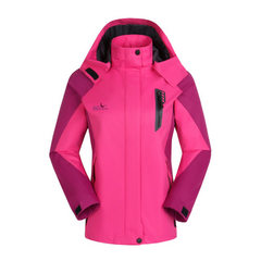 New waterproof outdoor climbing suit for spring and autumn 2018 lovers` and men`s and women`s jacket Lady magenta 1508 l