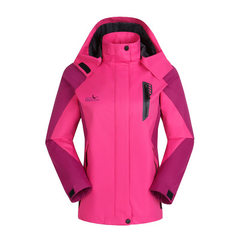 Spring and autumn new outdoor mountaineering wear lovers men and women in single-layer jacket casual Lady magenta 1508 l