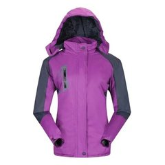 Outdoor stormtrooper suit customized logo work clothes advertising against cold and wind print singl Women with purple xl