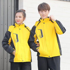 Autumn and winter thickening and fleece stormtrooper garment customized outdoor men and women`s wind yellow l