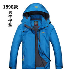 18 spring and autumn new genuine thin style assault jacket for lovers outdoor sports wind - proof wa Cowboys blue m