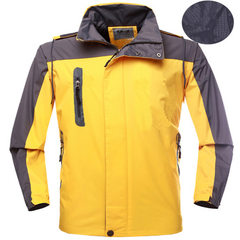 Outdoor men and women`s emergency clothing winter custom advertising clothing work clothes mountaine yellow s.