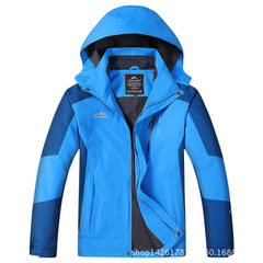 The new style of 2018 season lovers spring and autumn thin charge clothing men and women mountaineer M/color blue l