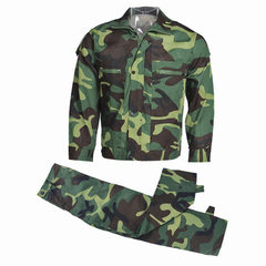Manufacturers direct 21 camouflage uniforms military training uniforms summer students training suit Jungle army green (top + pants) 165