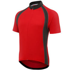 Cross border #6011A short sleeve cycling wear men`s moisture absorption, perspiration and ventilatio red m
