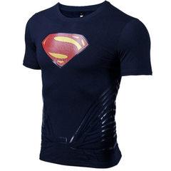 A hair generation men`s bodysuit short sleeve fitness running training fast dry compression T-shirt  black xs