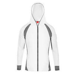 Manufacturer spot wholesale sun protection fishing wear hooded fishing shirt outdoor hiking bamboo c white m