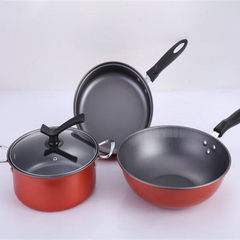 Manufacturer wholesale new style kitchen supplies three - piece set cooking pan pan pan pan pan prom 24 cm
