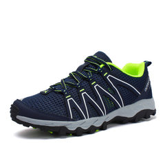 2018 summer new products: suxi shoes, men`s shoes, anti-skid and shock-absorbent mountaineering shoe blue 35/225 mm