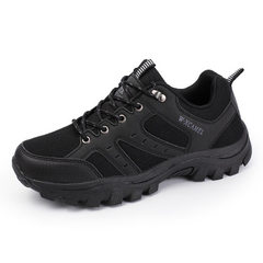 Yingsa`s new outdoor hiking shoes waterproof running shoes for men, leisure shoes anti - skid wear s black 40