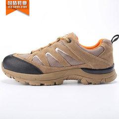 新品登山鞋秋季防滑耐磨户外鞋女鞋男鞋越野跑步鞋徒步鞋A58 沙色男款 38