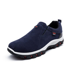 New style men`s youth shoes in spring 2017, velvet British shoes, outdoor hiking and running men`s s 6638 blue 39