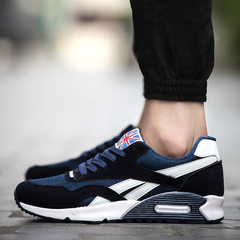 Spring Korean men`s sports shoes running shoes running shoes board shoes agam men`s shoes breathable 861 blue 39