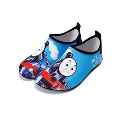 Children`s baby beach shoes portable swimming shoes anti-skid diving snorkeling shoes wading shoes f 1953 jingle cats The inner length of shoes is 13.8CM