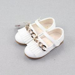 Autumn new girl princess shoes single wholesale super fiber leather beef sole magic paste breathable white 21