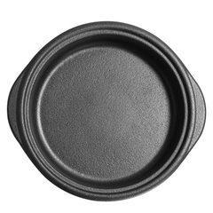 厂家直销铸味20CM牛排盘铸铁煎锅西餐盘牛扒盘铁盘电磁炉通用无盖 黑色