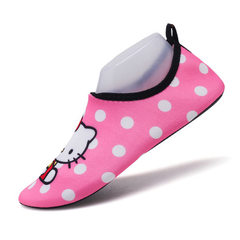 Children`s beach shoes water shoes swimming shoes women`s shoes barefoot skin soft water shoes leisu CH1 pink 25 and 26